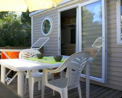 Terrasse mobil home studio 2 places