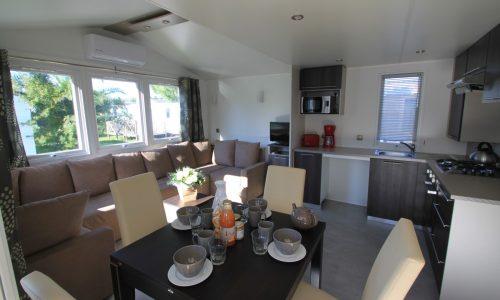 Mobil home Excellence 4/6 places-salon/séjour