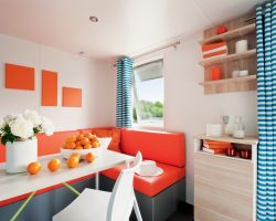 mobil home studio 2 personnes salon